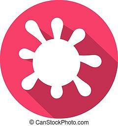 bacteria, płaski, ikona