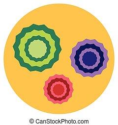 Bacteria virus microscopic isolated microbes icon human...