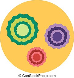 Bacteria virus vector icon. Biology microorganisms, microbes...