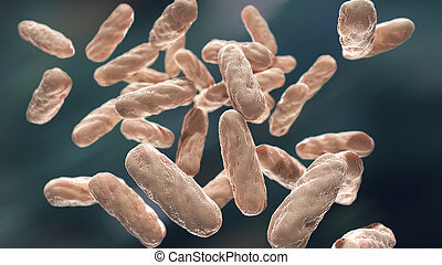Bacterial infection macro 3d illustration