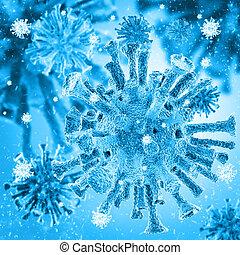 bacterial intruder cells causing sickness