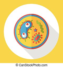 bacterial virus flat icon