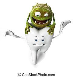 bacterias, diente