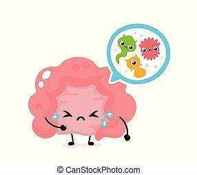 bacterias., microflora, slecht, microscopisch, virussen