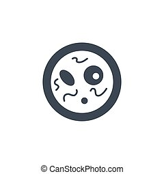 Bacteriology related vector glyph icon.
