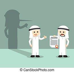 Bad arabic employee appreciate boss
