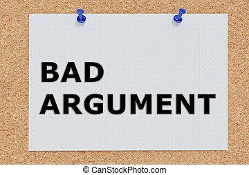 Bad Argument concept