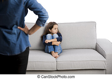 Bad behavior punishment - Grown up rebuking a little child...