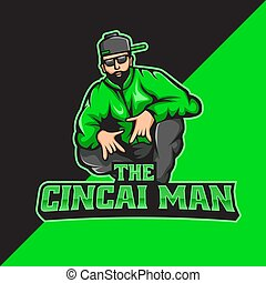 Bad boy mascot logo template