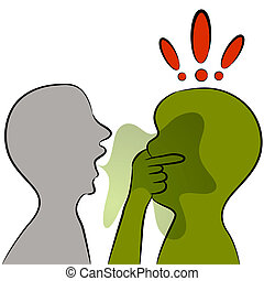 Bad Breath - An image of a man with bad breath.