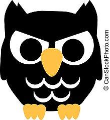 Bad cartoon Owl halloween