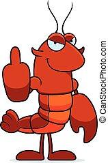 Bad Crawfish - A cartoon illustration of a crawfish giving ...