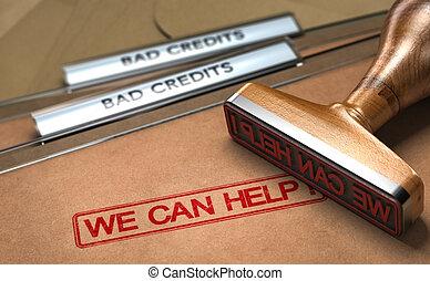 Bad Credit Debt Solutions Concept.