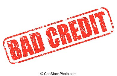 BAD CREDIT red stamp text