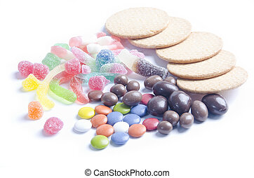 bad diet sweets on white