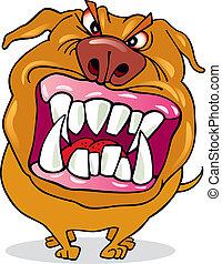 Bad dog - Cartoon illustration of bad dog