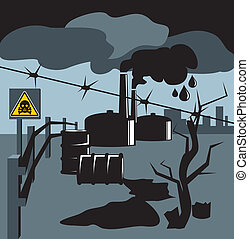 Bad ecology - Spilled fuel and the smoke from the chimneys ...