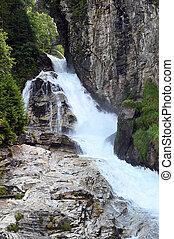 Bad Gastein waterfall Gasteiner Ache river