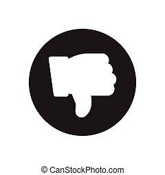 bad  glyph flat icon