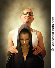 bad guy and a girl - a bad guy and his hostage