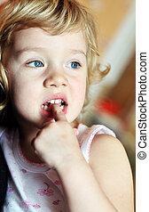 bad habit for children - nail-biting
