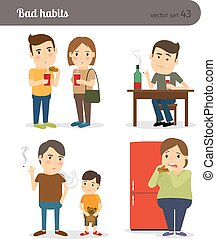 Bad habits. Drunkenness and overeating. Unhealthy lifestyle....