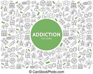 Bad Habits Line Icons Pattern