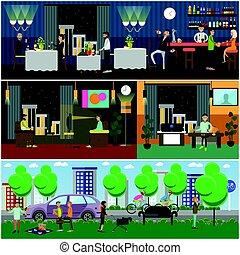 Bad habits vector illustration in flat style