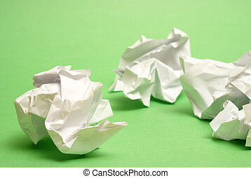 Too many bad writing ideas lead to more recycled paper.