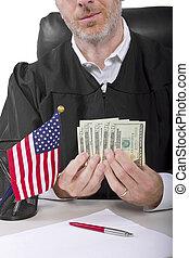 Bad Judge - corrupt american judge taking money as a bribe...
