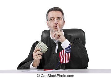 Bad Judge - corrupt american judge taking money as a bribe...