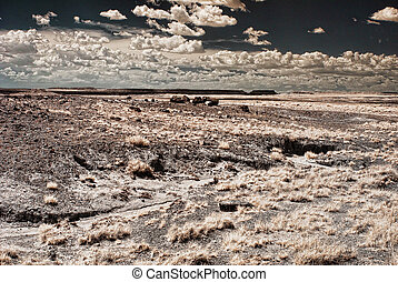 Bad Land Storm - A Storm forming over the Arizona Badlands