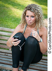 Bad message - woman with cellphone
