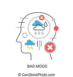 Bad mood vector illustration concept.