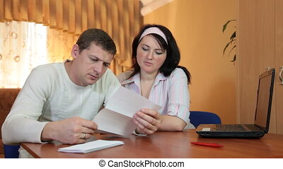 Bad news in bank statement - Couple got the bad news in the...