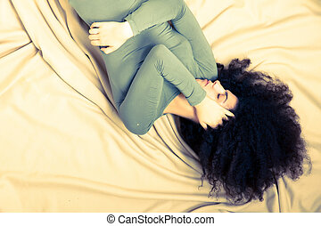 Bad night - A Brazilian woman having a bad night with...