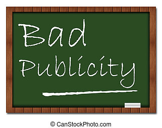 Bad Publicity Classroom Board