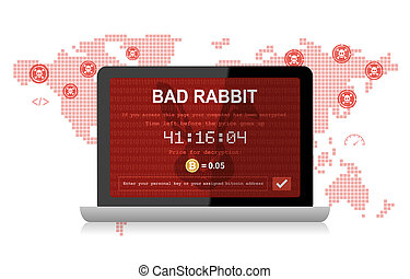Bad Rabbit Ransomware Attack Malware Hacker Around The World