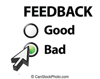 bad selected on a feedback question  Illustration design