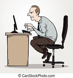 Bad sitting posture as the reason for office syndrome