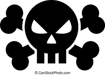 Bad skull icon