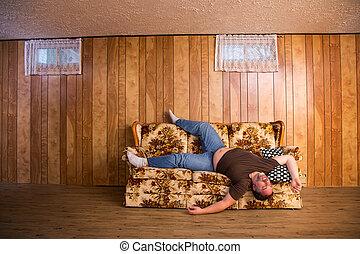 Bad sleep on a couch