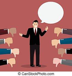 Bad speech. Vector Illustration