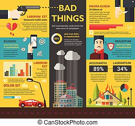 Bad Things - poster, brochure cover template