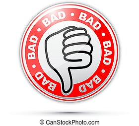 Bad thumbs down icon