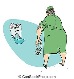 bad tooth and the dentist