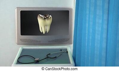 bad tooth to white tooth closeup