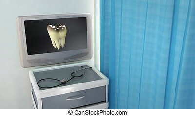 bad tooth to white tooth medical - teeth screen in medical...