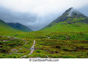 Bad weather at Glen Coe - A rainy day at Glen Coe, Scotland