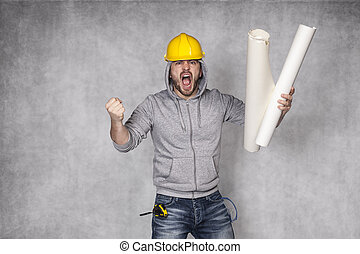 bad worker screaming with stress